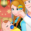 game Anna And Kristoff Care Newborn Princess