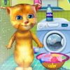 game Ginger Washing Clothes