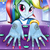 game Manicure for Rainbow Dash